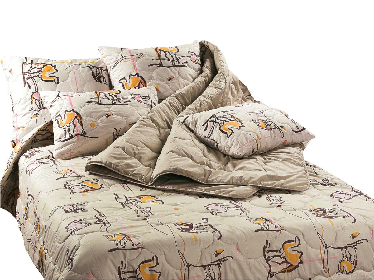 Набор для спальни Верблюжья шерсть (1 одеяло + 2 подушки) (в тике)Одеяла<br><br><br>Размер: 1,5-спальный