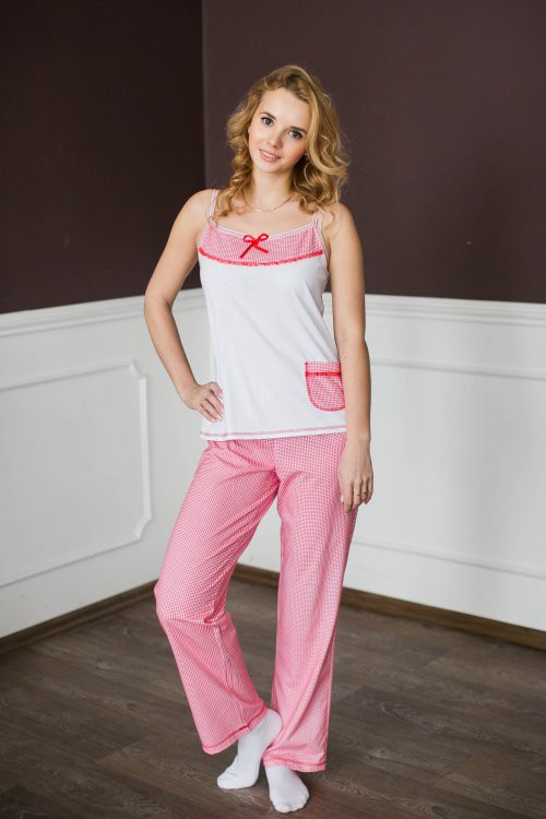 Пижама (майка+брюки) ВеснаКоллекция ОСЕНЬ-ЗИМА<br><br><br>Размер: 42