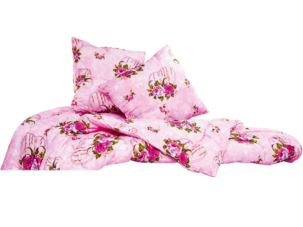Набор для спальни файбертекс (в полиэстере) 1 одеяло + 2 подушкиОдеяла<br><br><br>Размер: Евростандарт