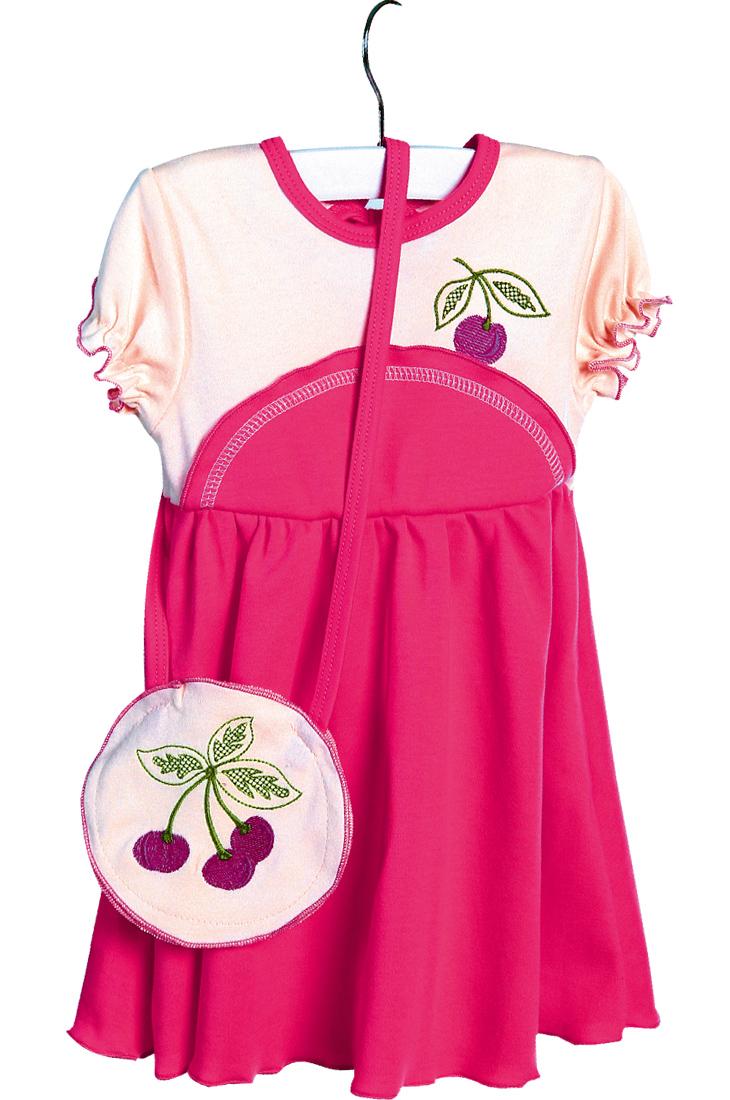 Платье с сумочкой ВишенкаПлатья и сарафаны<br><br><br>Размер: 98