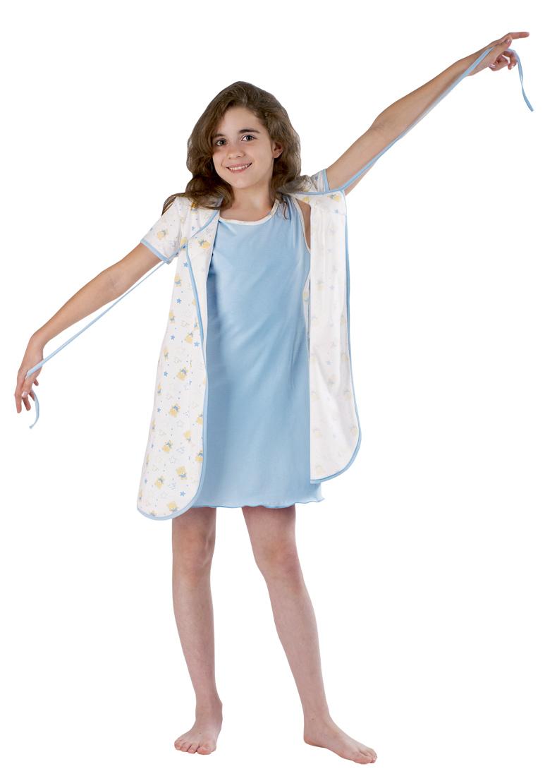 Комплект Звезда сорочка и пеньюарХалаты и пижамы<br><br><br>Размер: 158