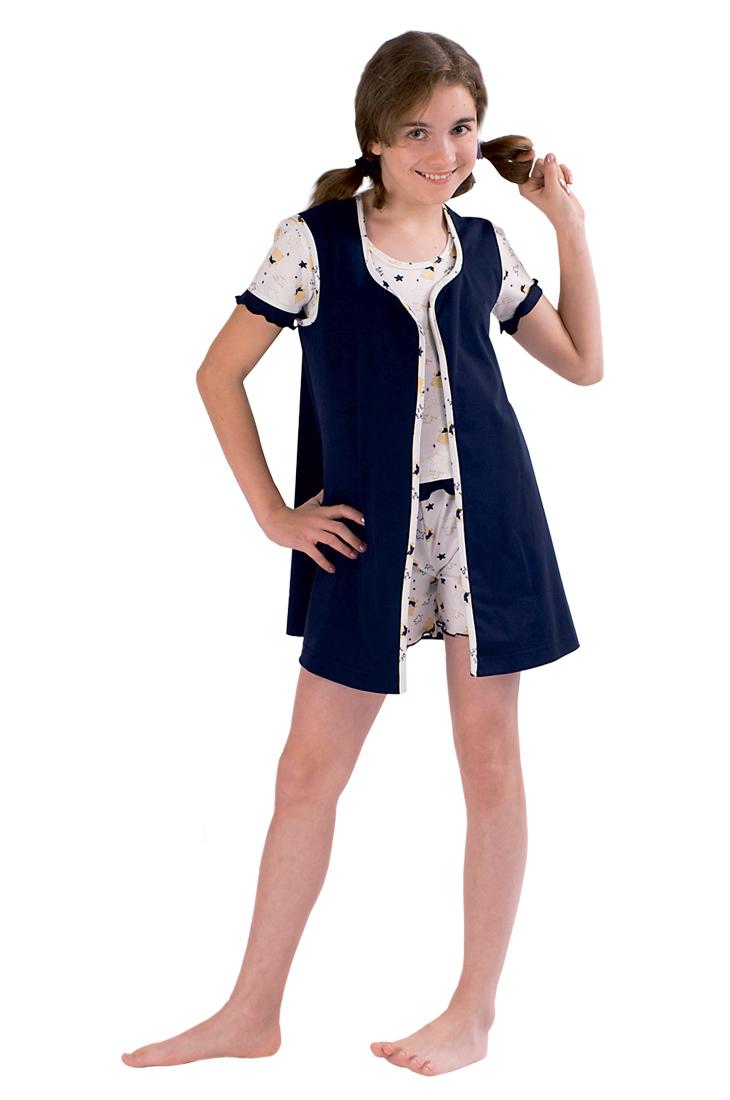 Комплект подростковый Ночь (пижама+шорты+накидка)Комплекты и костюмы<br><br><br>Размер: 146