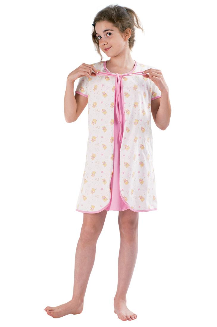 Комплект Мишки сорочка и пеньюарХалаты и пижамы<br><br><br>Размер: 152