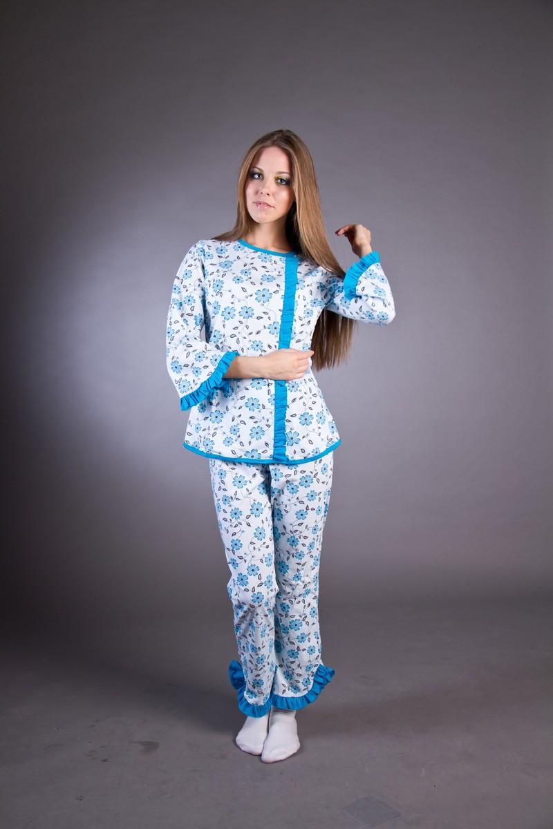 Алена (кулирка)Пижамы<br><br><br>Размер: голубой