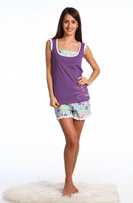 Пижама женская (майка+шорты)Пижамы<br><br><br>Размер: 44