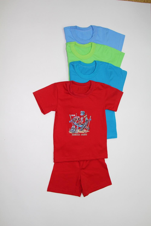 Костюм д/мальчика с аппликацией (футболка + шорты)Комплекты и костюмы<br><br><br>Размер: 104