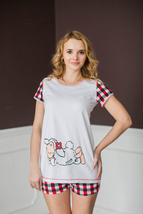 Костюм Овечка (туника + шорты)Пижамы<br><br><br>Размер: 52