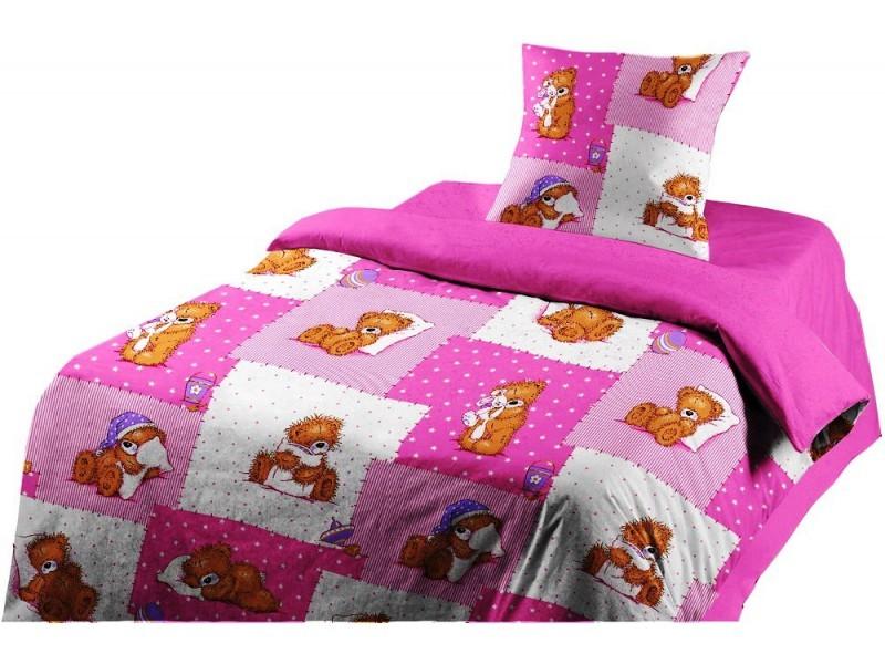 Комплект детского постельного белья Мишка Тедди (розовый)Детское постельное белье<br><br><br>Размер: 1,5 сп