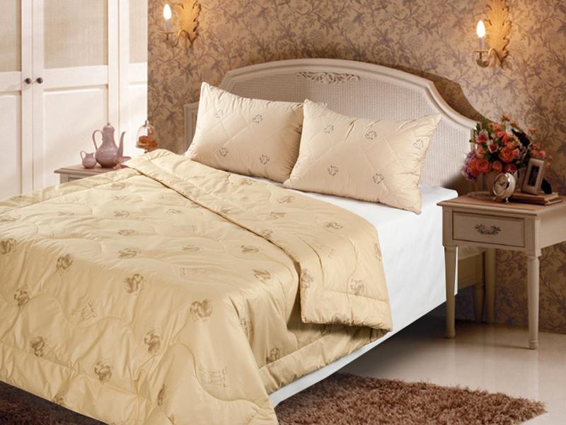 Одеяло Верблюжья шерсть облегченное (в полиэстере)Детские одеяла и подушки<br><br><br>Размер: 2-спальное (172х205)
