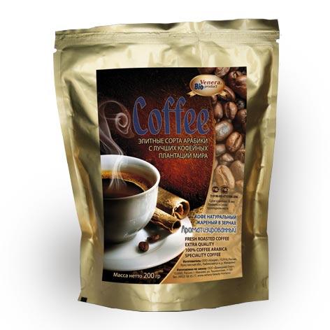 Арабика с ароматом Ванильно-сливочныйКофе арабика в зернах<br><br>