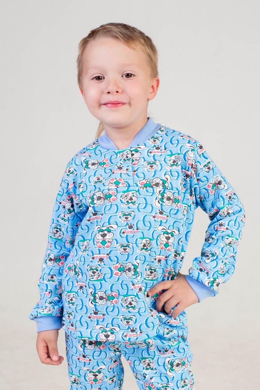 Пижама детская Клёпа (футер)-МХалаты и пижамы<br><br><br>Размер: зеленый
