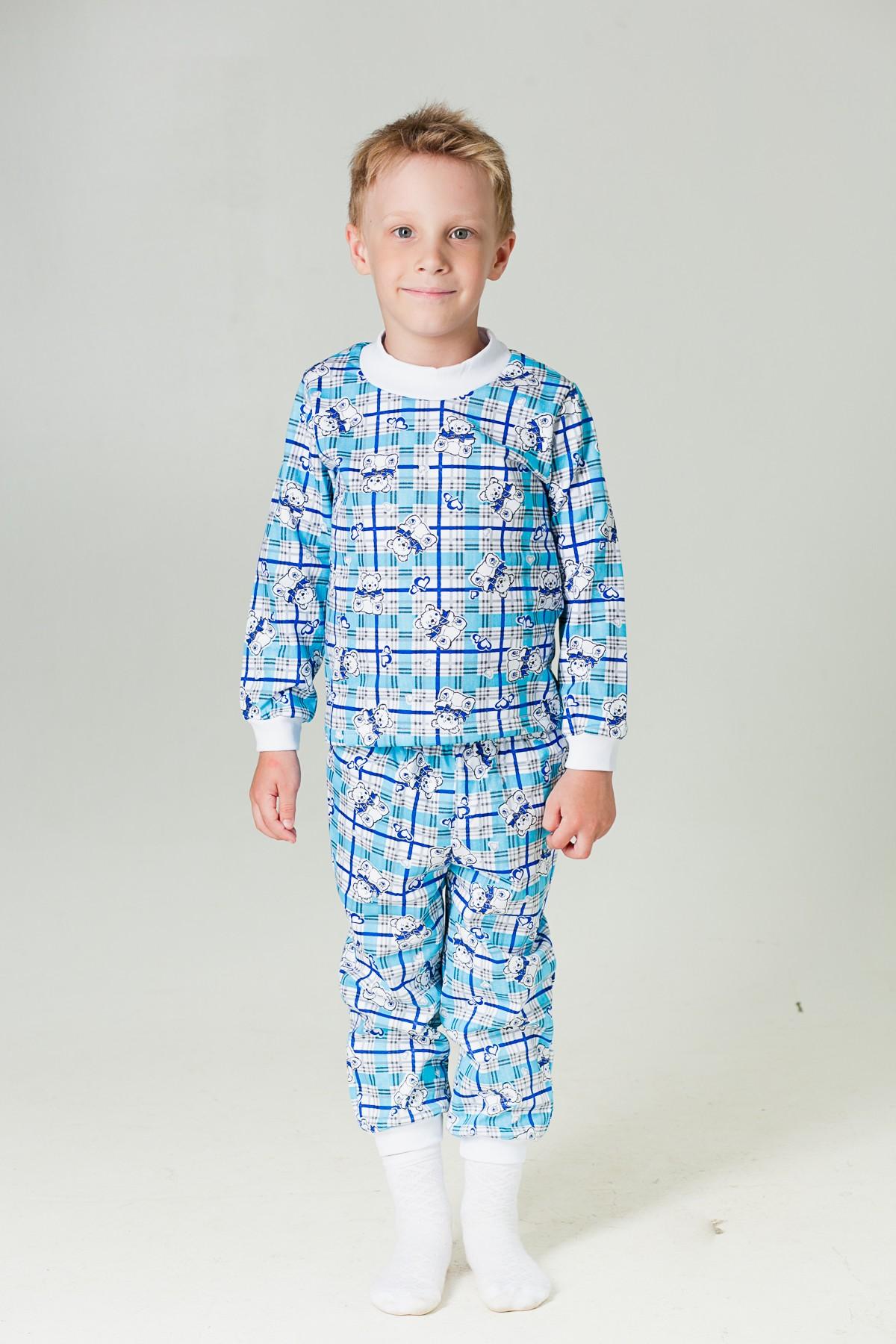 Пижама  детская Манжеты (футер)-МХалаты и пижамы<br><br><br>Размер: 104