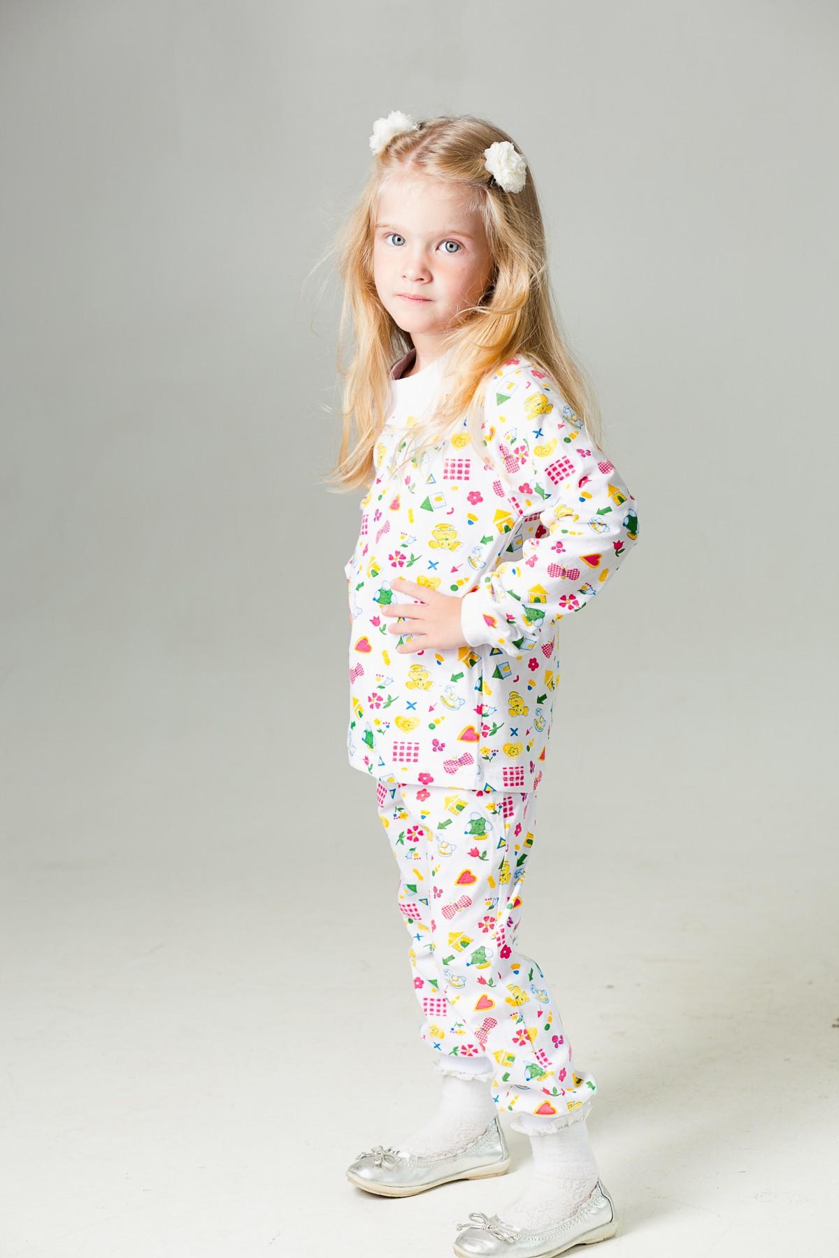 Пижама манжеты (кулирка)Халаты и пижамы<br><br><br>Размер: 128