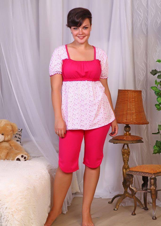 Пижама женская Констанция майка+ бриджиПижамы<br><br><br>Размер: 50