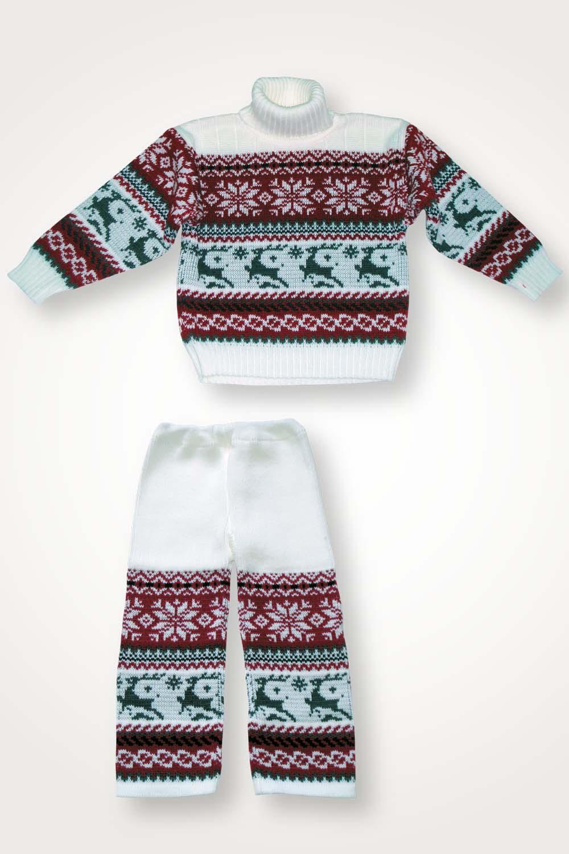 Костюм детский шерстяной Аляска светлый кофта+штаныТёплый детский трикотаж<br><br><br>Размер: 92