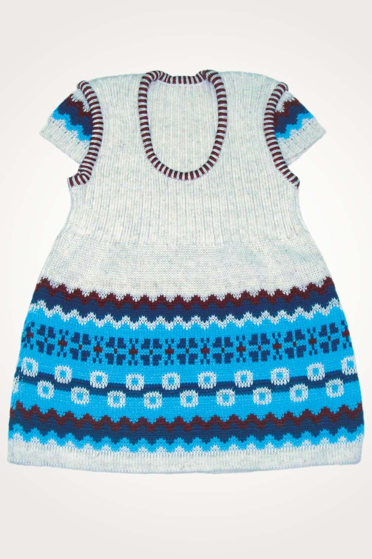 Сарафан тёплый шерстянойТёплый детский трикотаж<br><br><br>Размер: голубой