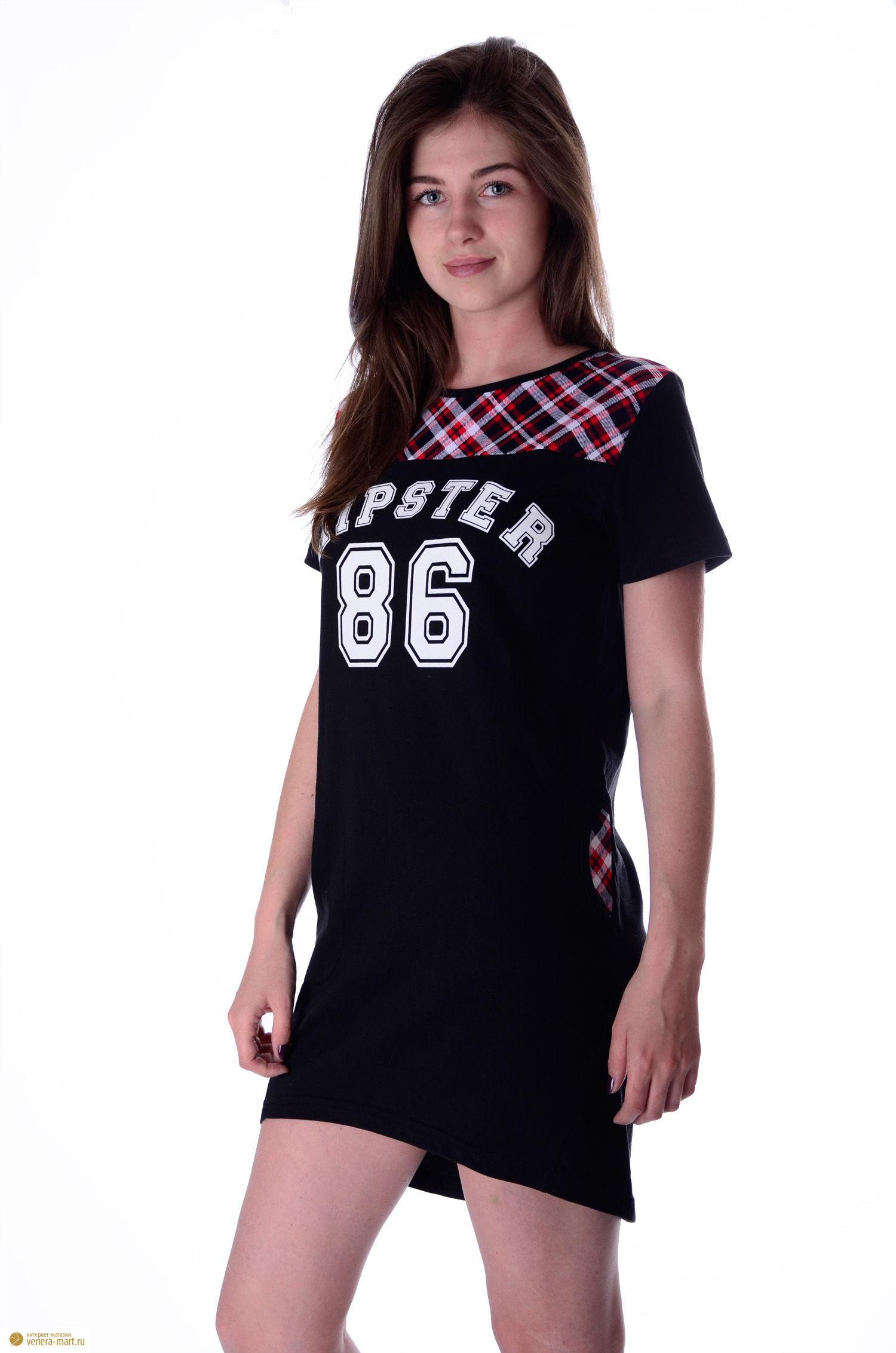 Туника женская ХипстерТуники, рубашки и блузы<br><br><br>Размер: 52