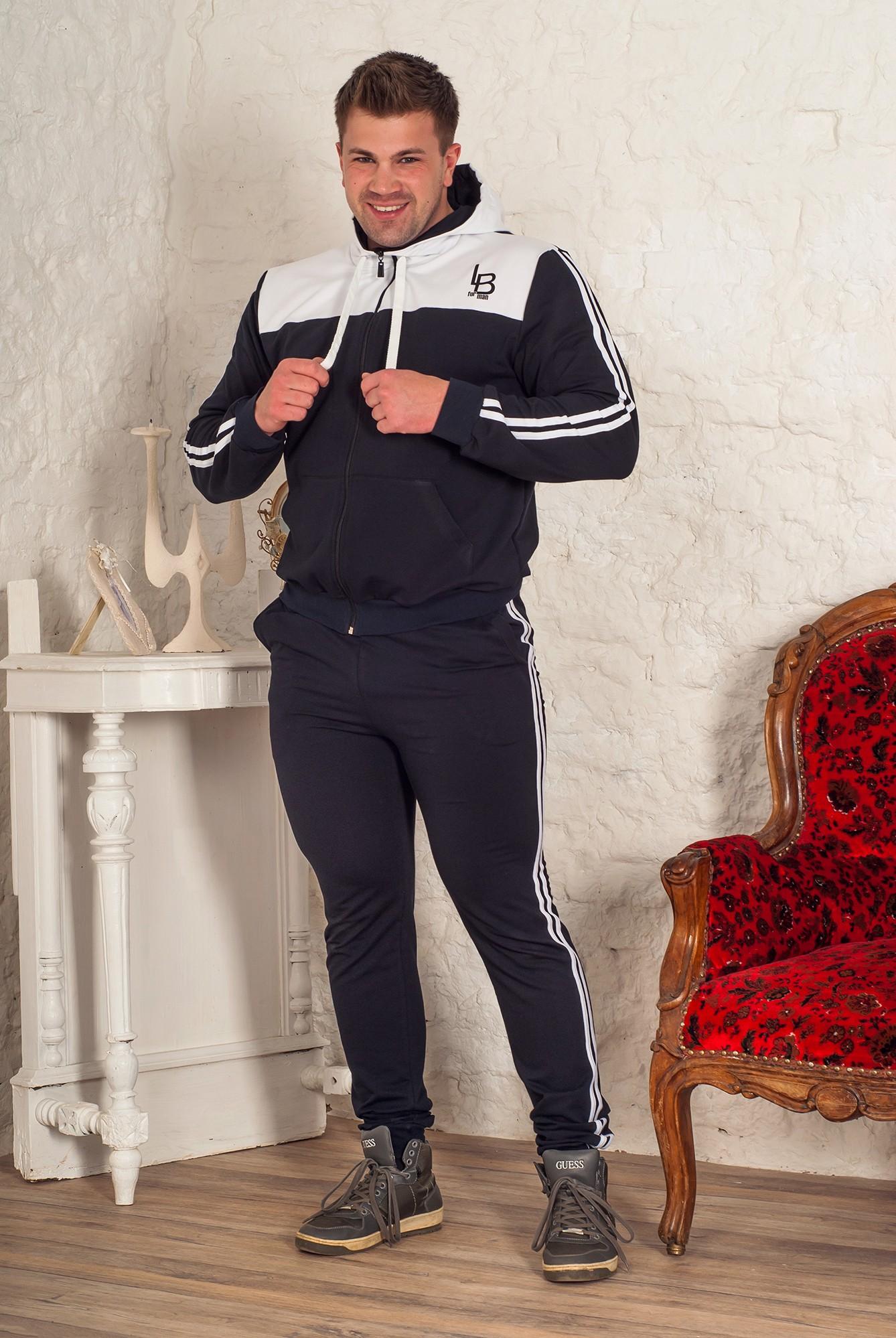 Костюм мужской Баско М толстовка и брюкиКоллекция ОСЕНЬ-ЗИМА<br><br><br>Размер: Чёрный