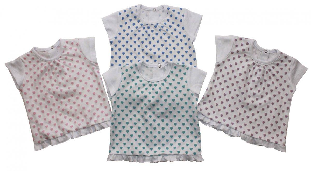 Фуфайка (футболка) детская Лаура для девочкиМайки и футболки<br><br><br>Размер: Рост 62 (размер 20)