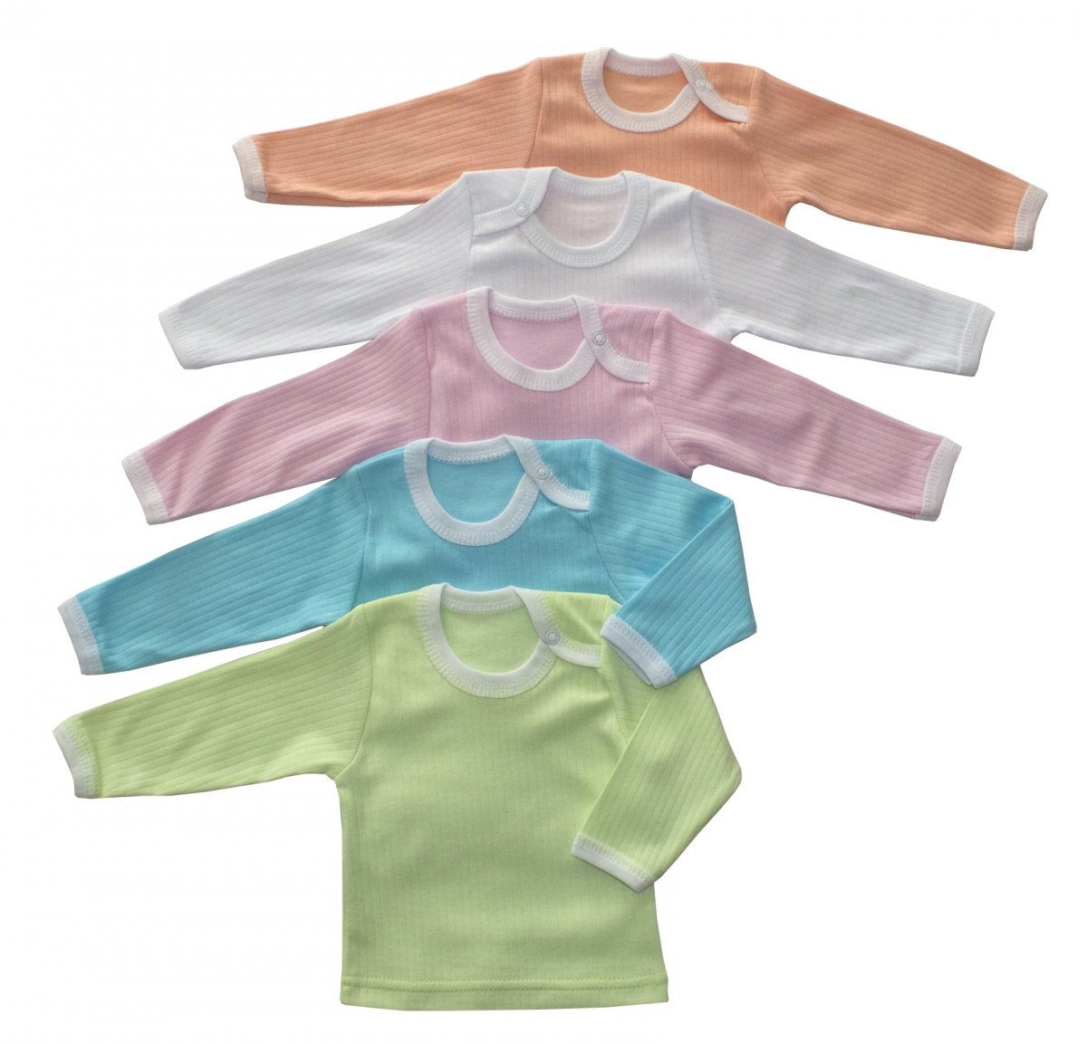 Фуфайка (футболка) детская Полосатик с длинным рукавомМайки и футболки<br><br><br>Размер: Рост 74 (размер 24)