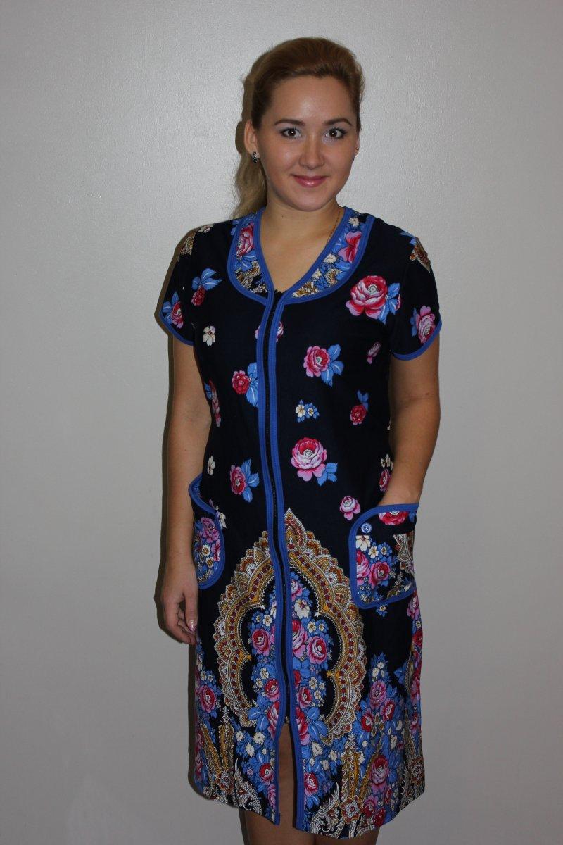 Халат женский Адара на молнииХалаты<br><br><br>Размер: 50