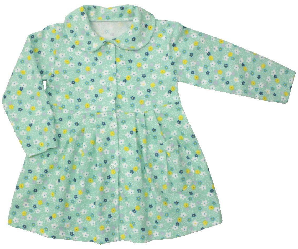Халат детский Цветочная полянка для девочкиХалаты и пижамы<br><br><br>Размер: Рост 104 (размер 34)