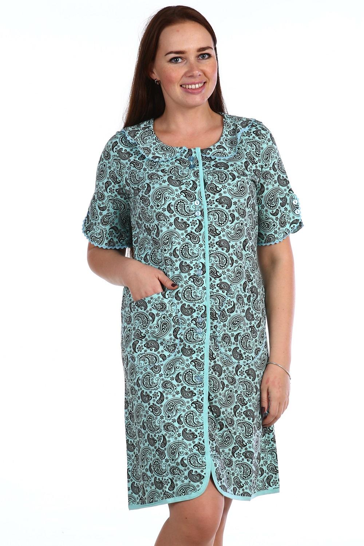 Халат женский Мирослава на пуговицахДомашняя одежда<br><br><br>Размер: 52