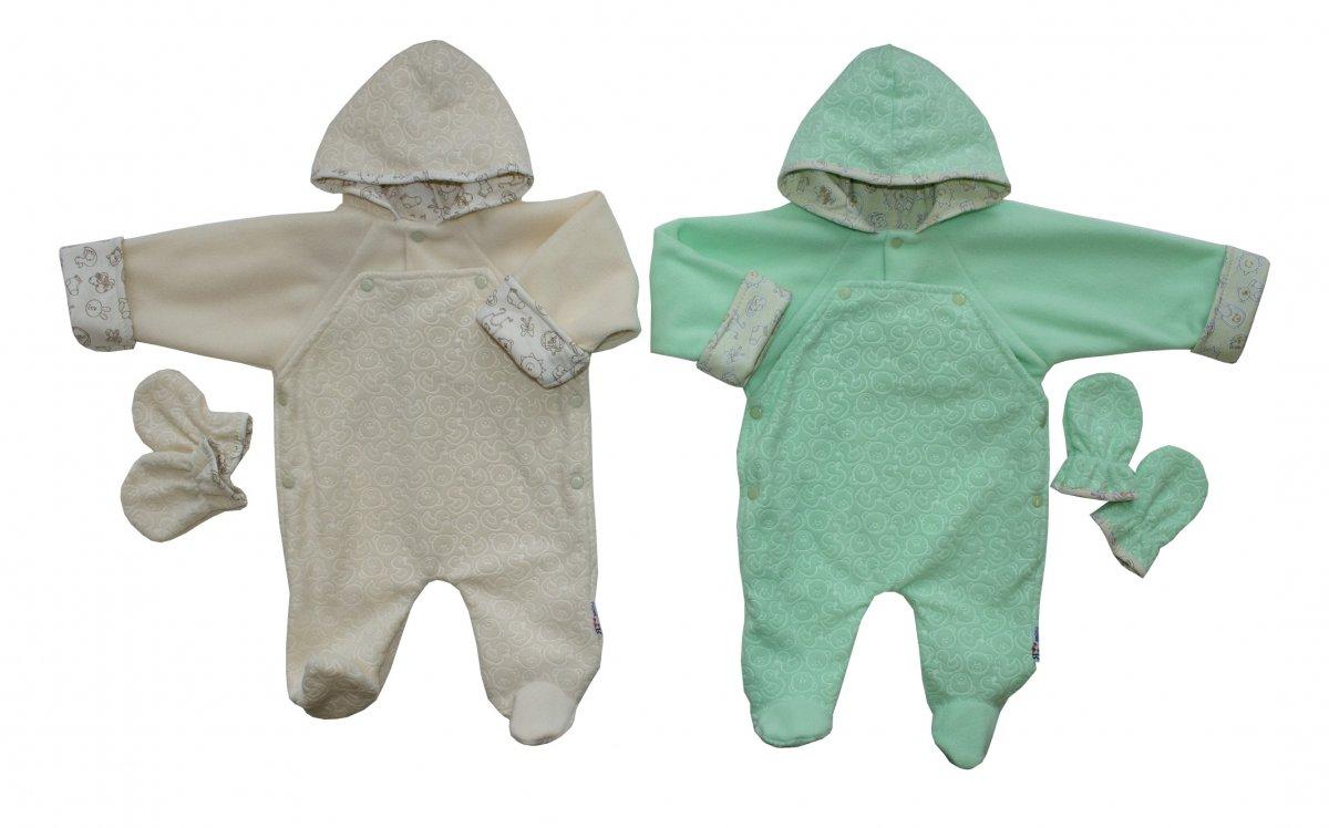 Комбинезон детский Фантазёры с капюшономКомбинезоны и полукомбинезоны<br><br><br>Размер: Рост 74 (размер 24)