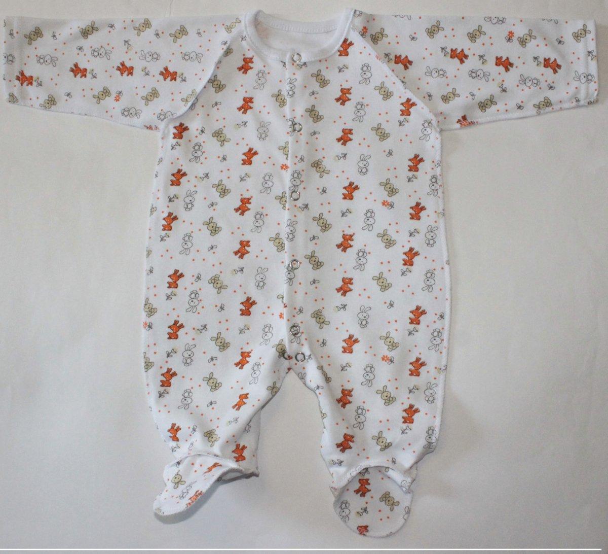 Комбинезон детский ЗайчишкаКомбинезоны и полукомбинезоны<br><br><br>Размер: Рост 62 (размер 20)