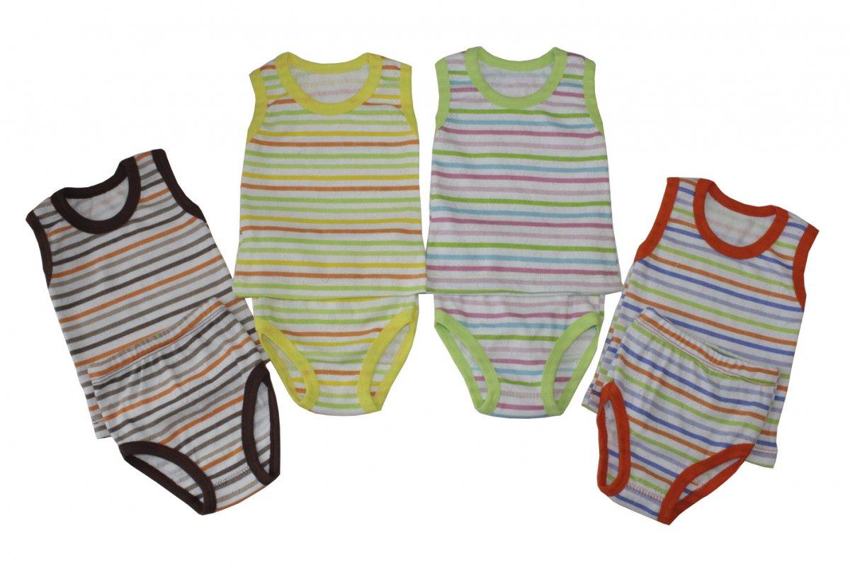 Комплект детский Полосатик майка и трусикиКостюмы, комплекты одежды<br><br><br>Размер: Рост 92 (размер 30)