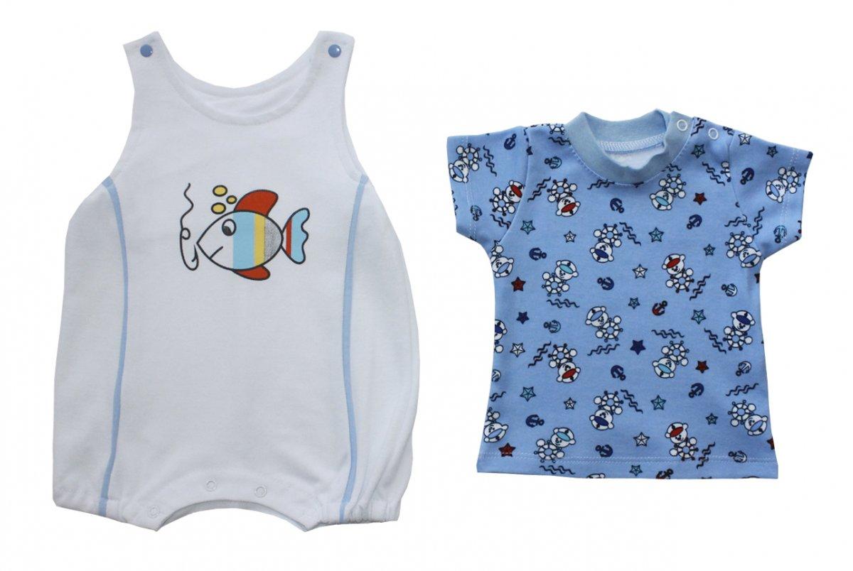 Костюм детский Рыбачок для мальчикаКостюмы, комплекты одежды<br><br><br>Размер: Рост 62 (размер 20)