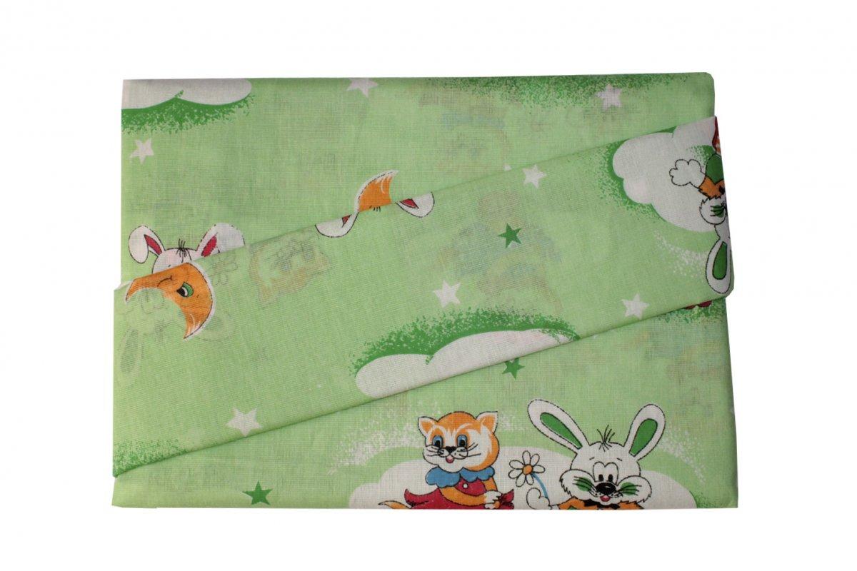 Комплект детского постельного белья из бязи Нежная ночьКомплекты в коляску, кроватку<br><br><br>Размер: Зелёный