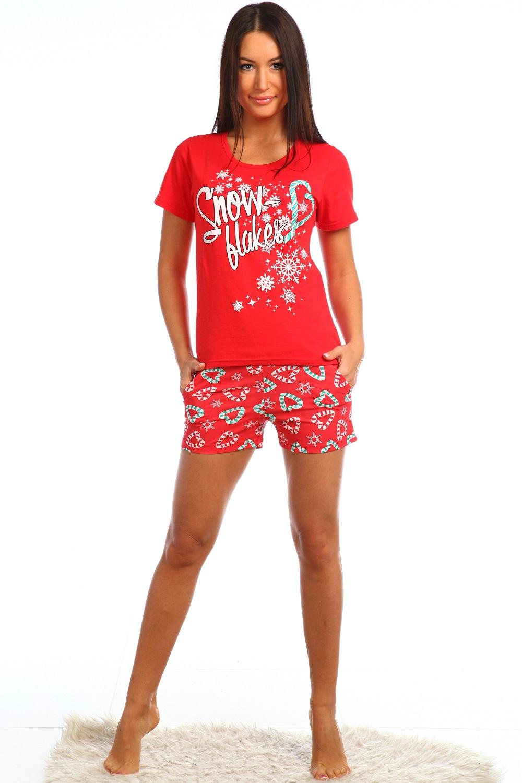 Пижама  Конфетти футболка и короткие шорты с карманамиКоллекция ОСЕНЬ-ЗИМА<br><br><br>Размер: 54