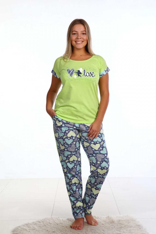 Костюм женский Love футболка и брюки<br><br>Размер: 48