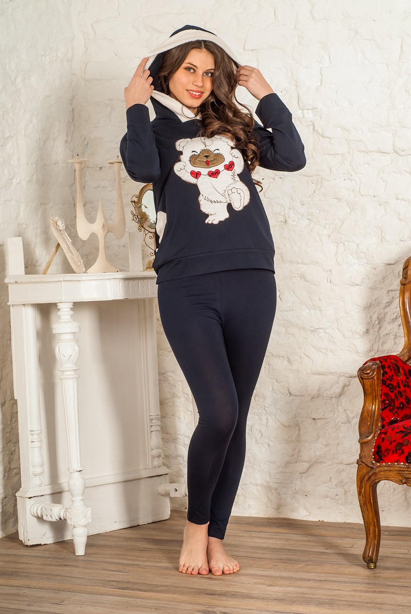 Костюм женский Очаровашка толстовка и брюкиКоллекция ОСЕНЬ-ЗИМА<br><br><br>Размер: 46