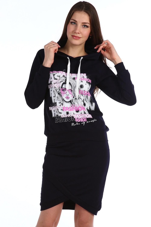 Костюм женский Розмарин толстовка и юбкаКостюмы<br><br><br>Размер: 46