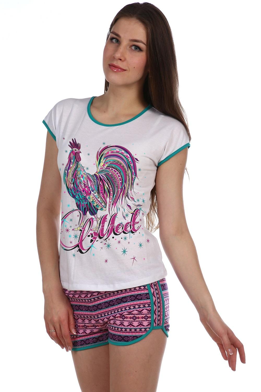 Костюм женский Розовый петух футболка и шортыДомашняя одежда<br><br><br>Размер: 48