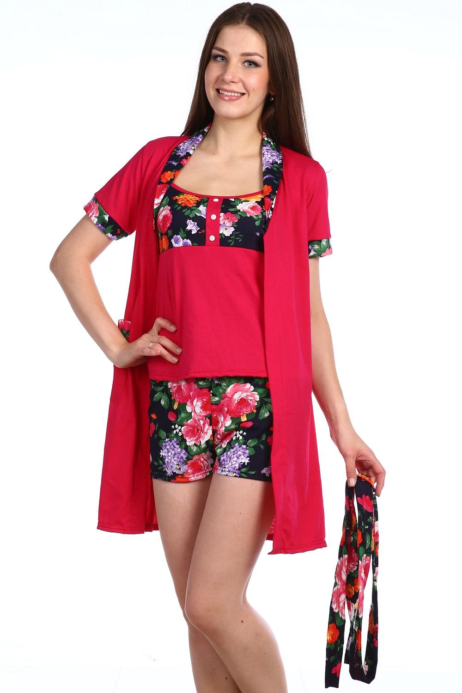 Пеньюар тройка женский РозанДомашняя одежда<br><br><br>Размер: 42