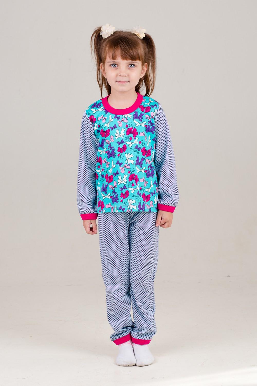 Пижама детская Люси для девочекХалаты и пижамы<br><br><br>Размер: 34 (рост 116-122 см)