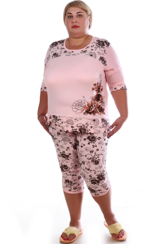 Пижама женская Аншлаг блуза и бриджиДомашняя одежда<br><br><br>Размер: 50