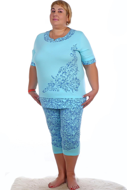 Пижама женская Февраль блуза и брюкиДомашняя одежда<br><br><br>Размер: 56