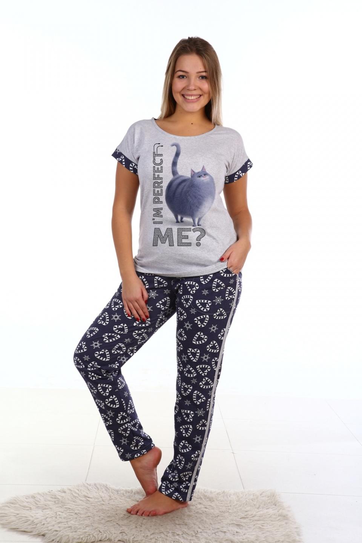 Пижама женская Perfect футболка и брюкиДомашняя одежда<br><br><br>Размер: 52