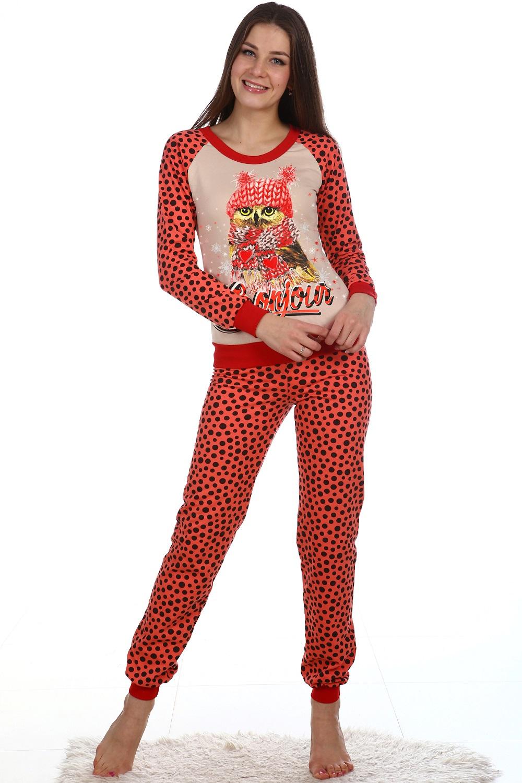 Пижама женская Снежана блуза и брюкиКоллекция ОСЕНЬ-ЗИМА<br><br><br>Размер: 46