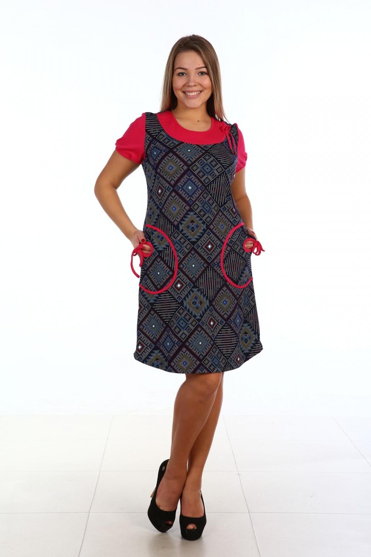 Платье женское Аргума с коротким рукавом<br><br>Размер: 52