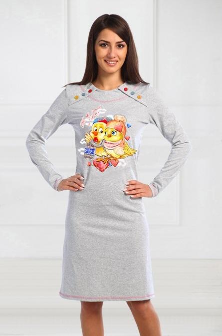 Платье женское Цыпочка с длинным рукавомКоллекция ОСЕНЬ-ЗИМА<br><br><br>Размер: 42