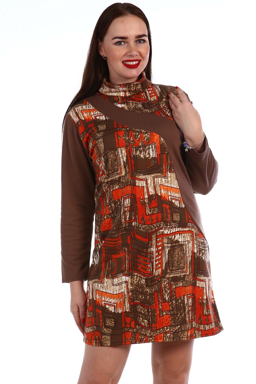Платье женское Лель с воротником-стойкойКоллекция ОСЕНЬ-ЗИМА<br><br><br>Размер: 46