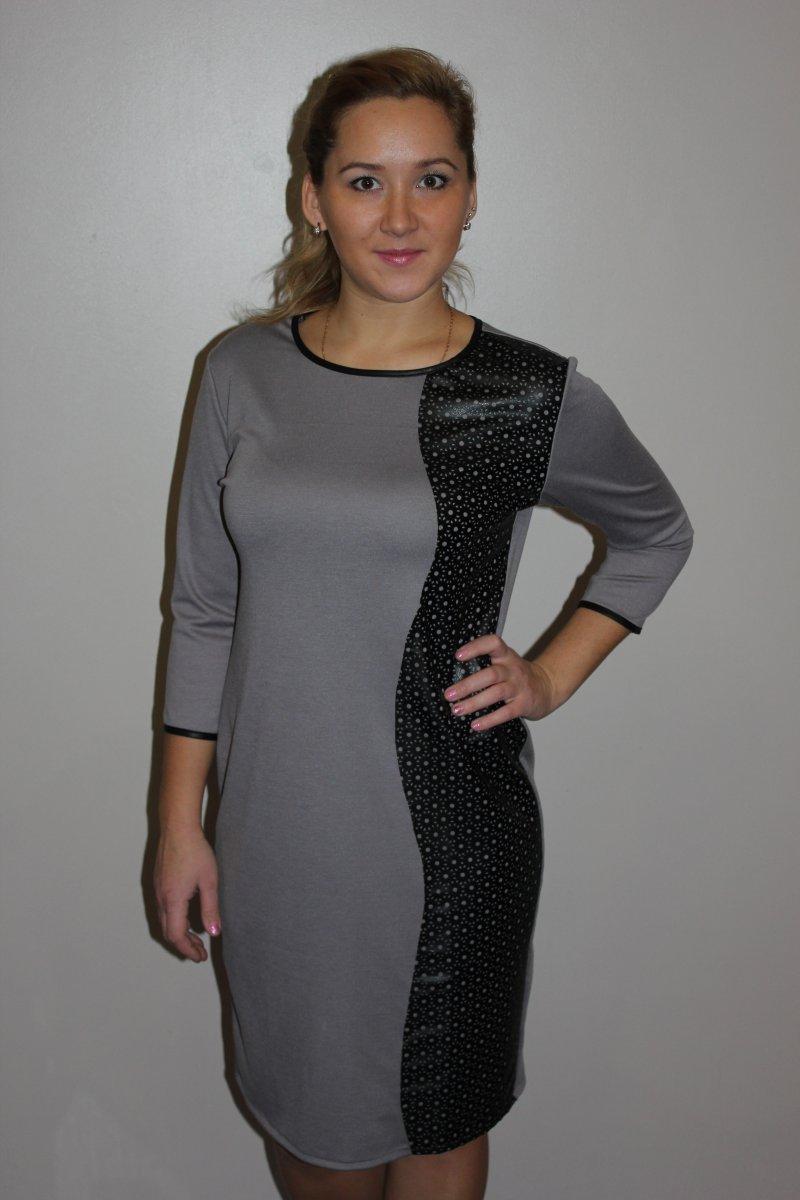 Платье женское Таврида с круглым вырезомКоллекция ОСЕНЬ-ЗИМА<br><br><br>Размер: 60