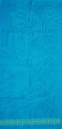 Полотенца махровые жаккардовые Дивный цветДля всей семьи<br><br><br>Размер: Синий