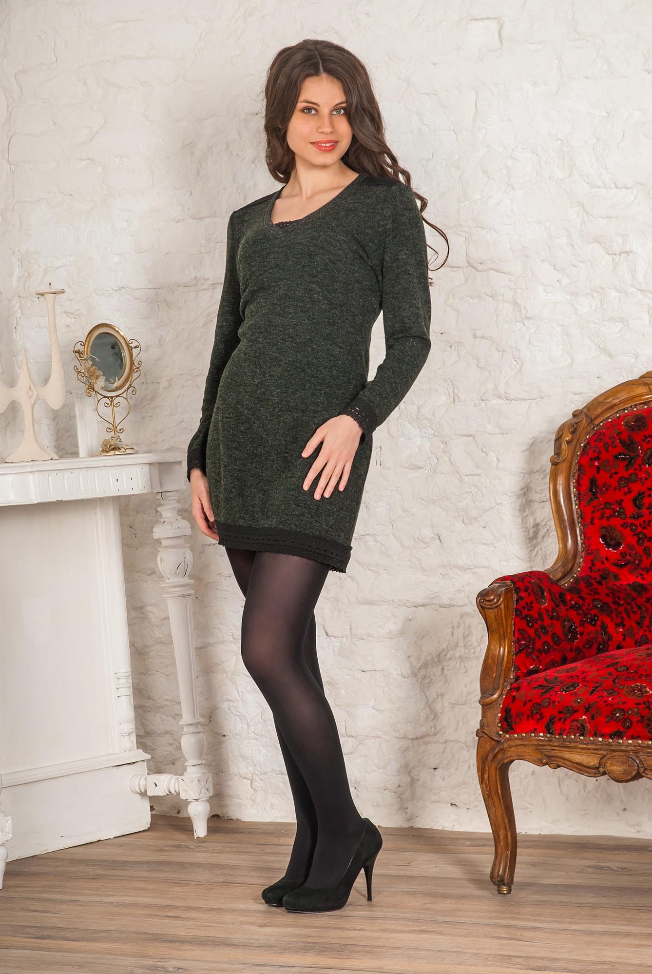 Платье женское Сандра с V-образным вырезомКоллекция ОСЕНЬ-ЗИМА<br><br><br>Размер: 40