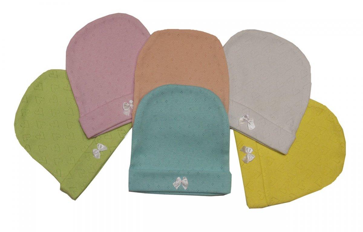 Шапочка для новорожденного BabyЧепчики, шапочки<br><br><br>Размер: Персиковый